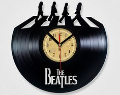 Vinyl Record Clock - The Beatles Abbey road.The package will be shiped in FEBRUARY 2015.