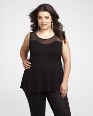 mxm mesh peplum top   Shop Online at Addition Elle $49.99