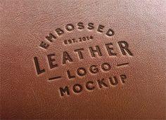 無料素材:これはリアル!革に刻印したロゴを再現できるPSDテンプレート
