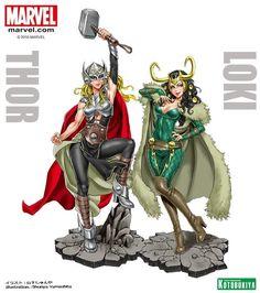 Thor - Thor & Loki - Bishoujo Statue, Marvel x Bishoujo - Kotobukiya (?) - US-Figuren - Japanshrine