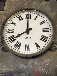Gents of Leicester Industrial Clock