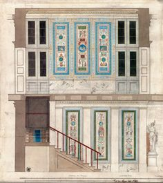 Karl Friedrich Schinkel, New Pavilion (Neuer Pavillon),   Charlottenburg Palace Gardens, Berlin, Germany. 1824-1825