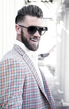37 Modern Bryce Harper Haircut Style Ideas For Mens That Looks More Handsome Baseball Haircuts, Baseball Guys, Baseball Players, Hot Haircuts, Boy Hairstyles, Bryce Harper Haircut, Hair Designs For Boys, Messy Haircut, Haircut Style