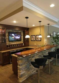 Beautiful Build A Bar In Basement