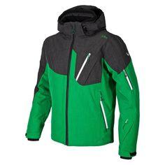 CMP Engle Mens Ski Jacket in Green/Black