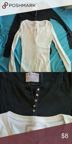 Aeropostale Henley bundle 2 aeropostale henleys Both in great condition No flaws or imperfections Can be sold separately just ask  $5 each/ $8 for both Aeropostale Tops Tees - Long Sleeve