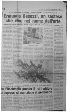 1985 Intervista di Ermanno Besozzi da Vanna Viviani giornalista La Prealpina, Varese