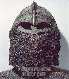Sigurds Helmet Vendel pre Viking stock photo