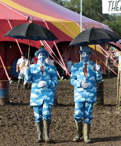 Proof that anything goes at a music festival- even if you want to become a Magritte painting- just make it fabulous!