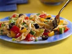 Gazpacho Pasta Salad with Tomato-Lime Dressing
