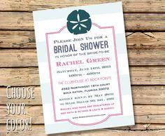 Beach wedding shower invite