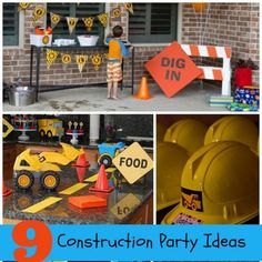 Let's talk construction birthday party ideas. Carli at Dimple Prints recently shared some of her favorite construction themed birthday parties with me. They were sent to her by her own customers. From dessert tables to decorations to favors and more, I am amazed by all of the talent out there...
