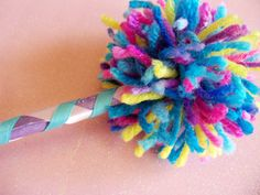 {Perfect for an Abby Cadaby party} Fairy Magic Wand Pom Wand POOF Wand by CupcakeWishesStore on Etsy, $6.75 -
