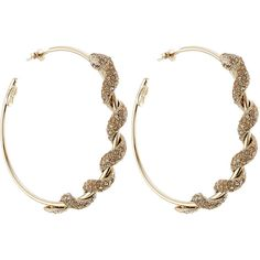 Roberto Cavalli Embellished Hoop Earrings ($370) ❤ liked on Polyvore featuring jewelry, earrings, gold, gold jewellery, roberto cavalli, yellow gold earrings, earrings jewelry and hoop earrings