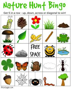 Printable Camping Bingo Cards Nature Hunt A Super Fun Outdoor Game For Kids That Encourages Exploration Of The Outdoor Scavenger Hunts, Nature Scavenger Hunts, Scavenger Hunt For Kids, Nature Activities, Summer Activities, Toddler Activities, Indoor Activities, Craft Activities, Physical Activities