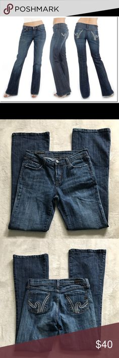 """COH Wimbledon #144 Ingrid flare stretch sz 27 Euc citizens of humanity Wimbledon #144 Ingrid flare stretch jeans. Size 27 with a 30.5"""" inseam and 8"""" rise. """"Flare"""" is only 18"""" so it would actually be considered Bootcut Citizens of Humanity Jeans Boot Cut"""