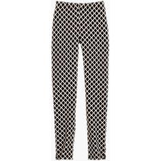 Slim-Leg Geometric Print Pants ❤ liked on Polyvore featuring pants, petite travel pants, flat-front pants, slim leg trousers, slim leg pants and elastic waist pants