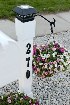 mailbox landscaping Upgrade your curb appeal by giving your mailbox a makeover! Step by step instructions for this cottage style customized mailbox and address post. Curb Appeal Landscape, Diy Curb Appeal, Outdoor Projects, Outdoor Decor, Front Patio, Front Yard Lighting, Yard Lights, Mailbox Landscaping, Mailbox Makeover