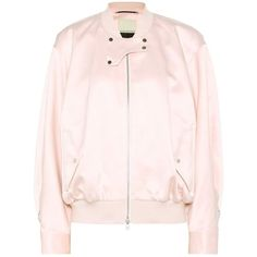 By Malene Birger Sanicas Satin Bomber Jacket (11,445 PHP) ❤ liked on Polyvore featuring outerwear, jackets, pink, by malene birger, pink bomber jacket, flight jacket, pink jacket and bomber jackets