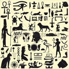 Kemetic Zodiac | Ancient Egyptian Symbols And Signs.Collection O...