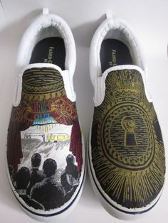 Fall Out Boy  From Under the Cork Tree shoes by BlackSpotShop, $80.00