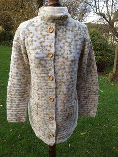Vintage Hand Crochet Cardigan Jacket Coat Fine от InVogueToVintage