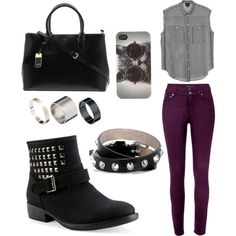Chic Rocker! Could add a jacket but this is more of an indoor look, good for a club :-)