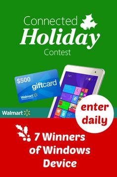 Want to win $500 #Walmart Gift Card plus HP Stream?  You need to enter my new #MicrosoftHoliday giveaway! http://freebies4mom.com/winwindows #ad (ends Dec. 18)