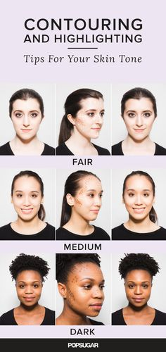 Contouring 101! If you're not using the right colors for your skin tone, the contour won't look natural. Try these tips for a perfectly highlighted and contoured complexion.