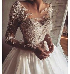 Wonderful Perfect Wedding Dress For The Bride Ideas. Ineffable Perfect Wedding Dress For The Bride Ideas. Elegant Wedding Dress, Dream Wedding Dresses, Bridal Dresses, Expensive Wedding Dress, Dresses Dresses, Sweater Dresses, Wedding Dress Corset, Dresses 2016, Jeweled Wedding Dresses