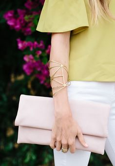 spring pastels // off the shoulder top // sarah sherman samuel Sarah Sherman Samuel, Stylish Work Outfits, Spring Fashion Outfits, Color Psychology, Last Minute Gifts, Fashion Story, Look At You, Classy And Fabulous, Off The Shoulder