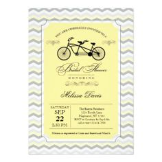 Bridal bicycle signature white bridal shower invitations in stormy tandem bicycle bridal shower invitation filmwisefo Choice Image