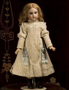 antique doll dresses  | Found on respectfulbear.com