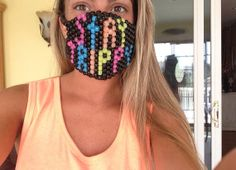 Stay Trippy Kandi Mask by QueenRaver on Etsy, $15.00