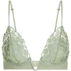 a805bea59e La Perla Azalea Triangle Bra In Leavers Lace And Silk Georgette ( 255) ❤  liked