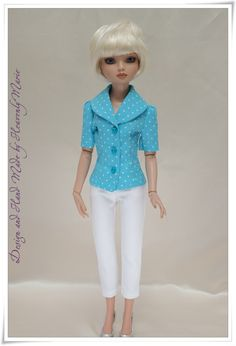 Ellowyne Turq Blouse with Glitter Belt Tonner Doll Outfit by Heavenly Marie | eBay