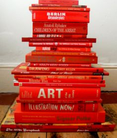 Stack of red books.......