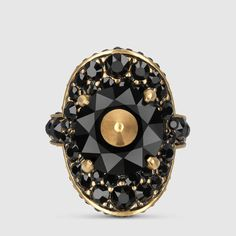 Gucci Ring with stud and crystals
