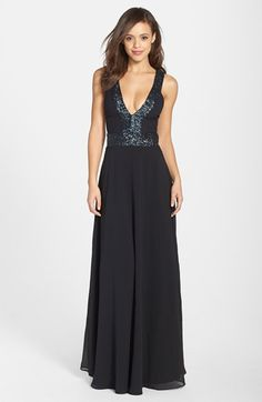 Dress the Population 'Delani' Sequin Crepe Gown available at #Nordstrom