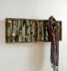 Wood wall hanger