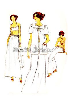 Vogue 9808 Retro 1970s Summer Outfit Bra Top by DejaVuPatterns
