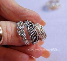 (5) Name: 'Jewelry : Knot a Ring - Wire Wrapped Ring