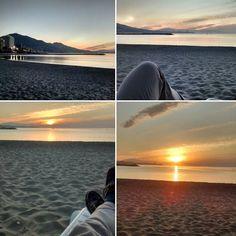 En #Instagram: #Buenosdías. Aquí viendo el #amanecer en la #playa . .  #beach #dawn #goodmorning #good http://ift.tt/25o72zj