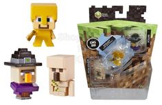 Minecraft Collectible Mini Figures Witch, Steve in Gold Armor & Iron Golem Dig in to the world of Minecraft like never before with Minecraft Mini-Figure 3-packs! Each 3-pack includes an assortment of figures that bring the game to life in the palm of your hand. - To order: http://www.shopaholic.com.ph/new.html#!/Minecraft-Collectible-Mini-Figures-Witch-Steve-in-Gold-Armor-&-Iron-Golem/p/46961138/category=6966429