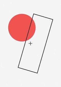 Graphic Design. Poster. Shapes. Forms. Color. Suprematism. Minimalism