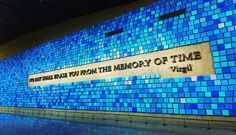 My favourite thing from the 911 memorial.....No day shall erase you from the memory of time  by ellengaffneyxo