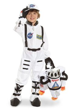 NASA Jr. Astronaut Suit White Toddler/Child Costume from Buycostumes.com