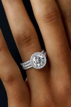 Idée Et Inspiration Bague De Fiançailles Image Description 30 Wedding Ring Sets That Make The Perfect Pair Three Pave Bands White