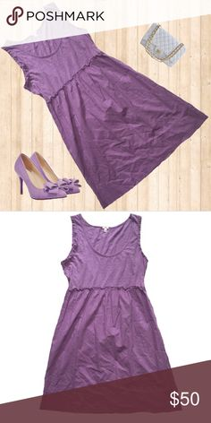 Lavender Ruffled Waist J.Crew Dress Feel young and cute in this Sleeveless ruffled sleeve lavender dress from J.Crew  Features include: •Ruffled edges on sides  •Sleeveless  •Ruffled detailing around waist