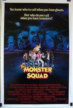 1987 Monster Squad Original Rolled 27 x 41 Movie Poster Cult Classic Horror   eBay